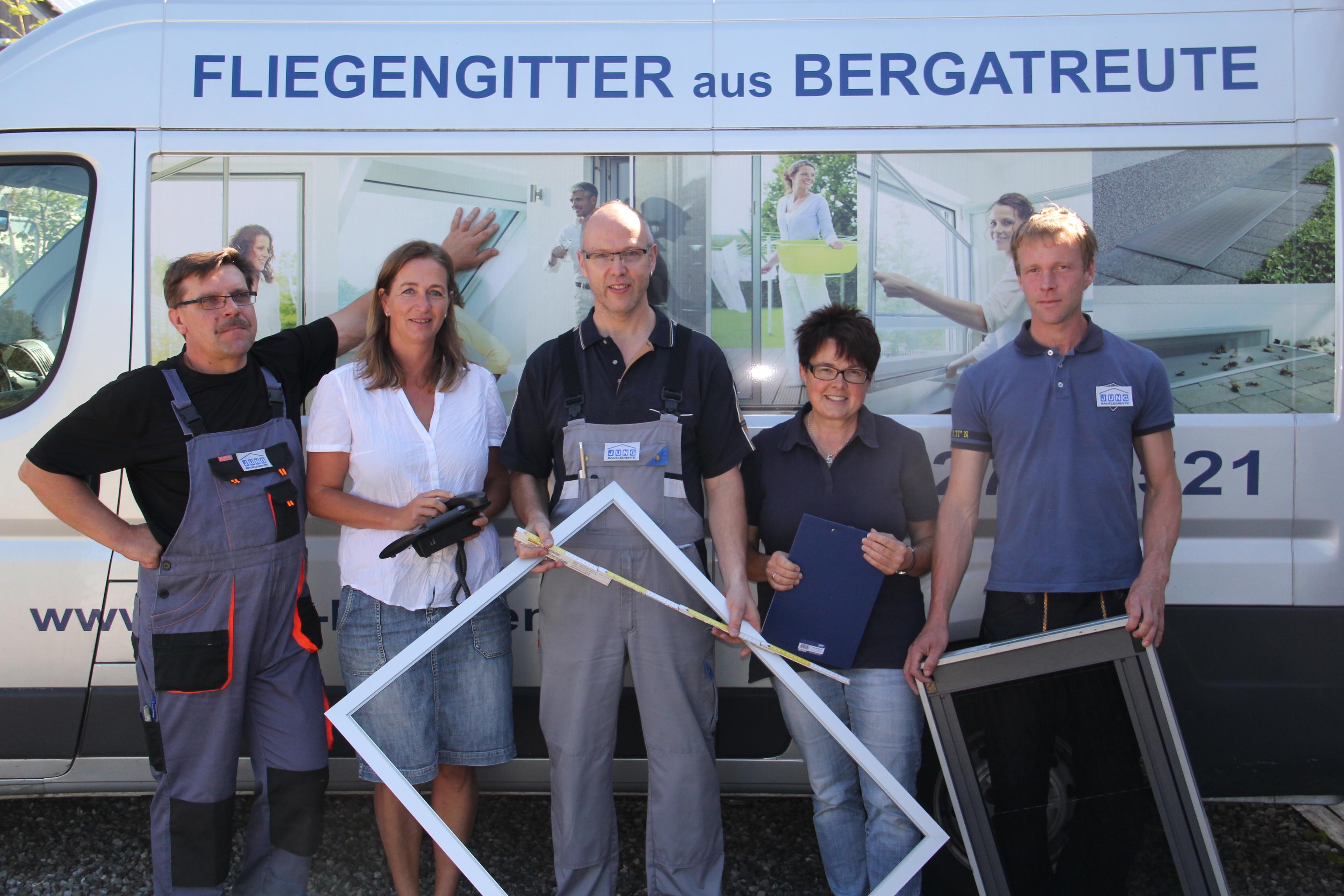 Das Team von JUNG Insektenschutz aus Bergatreute